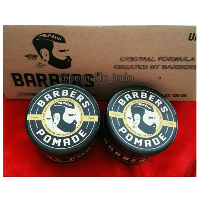 Barbers Pomade Firme Firm Hold Waterbased Black Edition limited