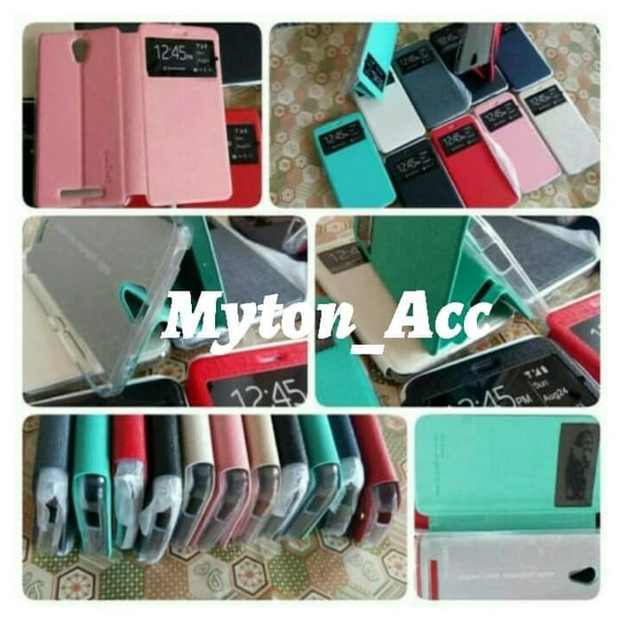 Flip Shell OPPO NEO 9 A37 Cover Case Kick Stand Sarung HP Buka Tutup