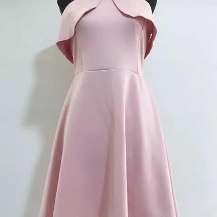 Jual Dress Pesta Elegan Pnk Merah Muda Kota Medan Rina Gaun Tokopedia