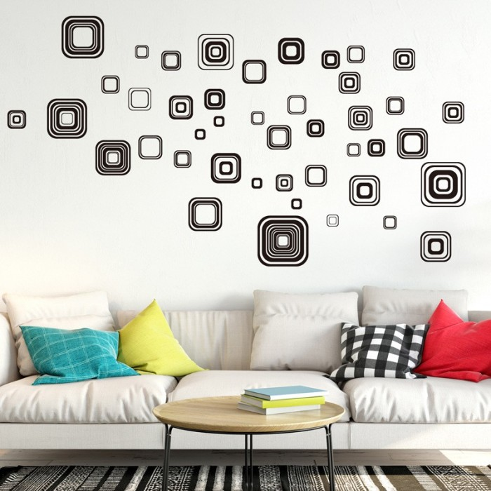 jual wall sticker dinding reliza wallsticker minimalis kotak hitam rh tokopedia com  wall stickers minimalist