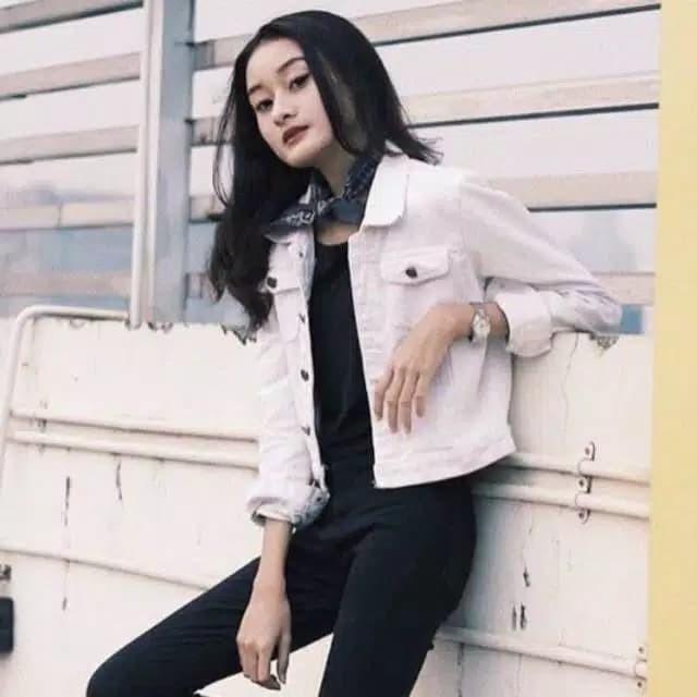 Jual Jaket jeans Wanita Bahan jeans Tebal - Hitam 0b91701556
