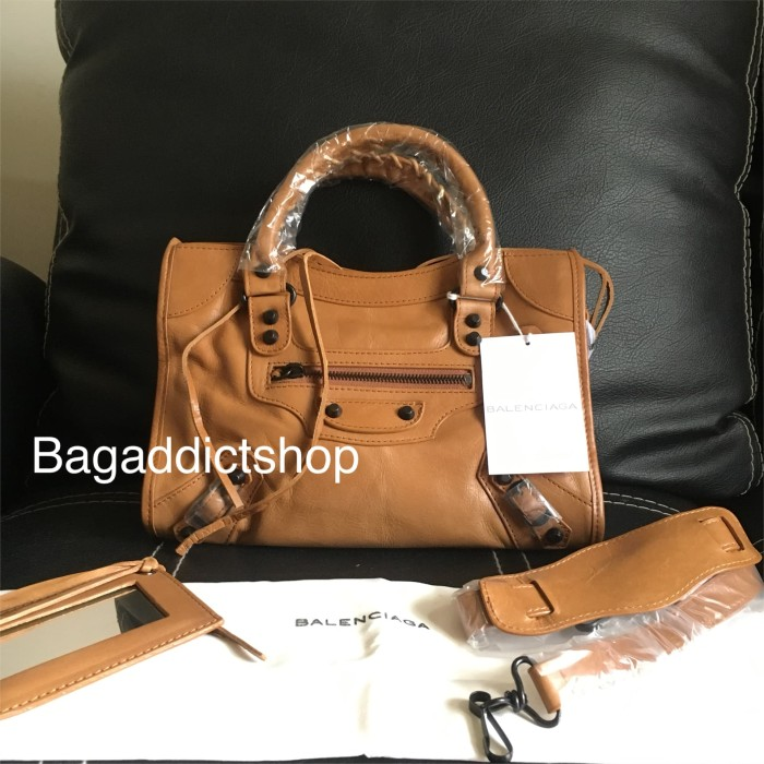 Jual Tas BALENCIAGA Small city Caramel BHW Mirror 1 1 Ori leather VIP 84d76e315d