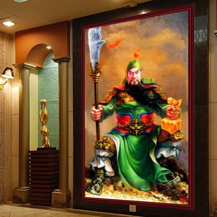 Jual Diy Diamond Painting Full Kuan Kong Duduk 50x80cm D224
