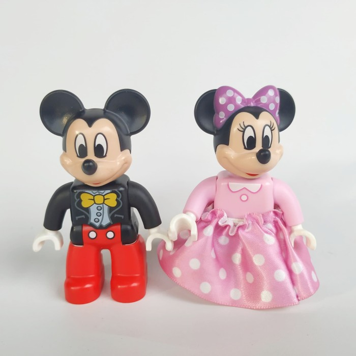 Jual Lego Duplo Minifigure Mickey Minnie Mouse Part Out Set 10597