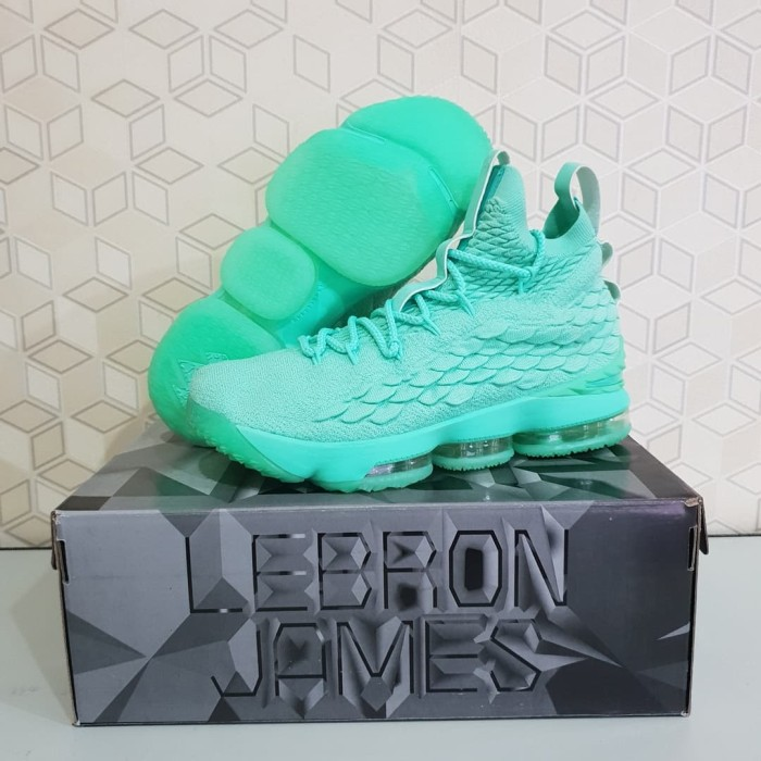 san francisco fba4a 43203 Jual Sepatu Basket Nike Lebron James 15 High Mint Green Support Ankle -  Turquoise, 40 - DKI Jakarta - Korionz Shop | Tokopedia
