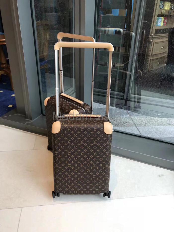 Ori Leather Tas Louis Vuitton Horizon 55 LUGGAGE koper LV monogram BE