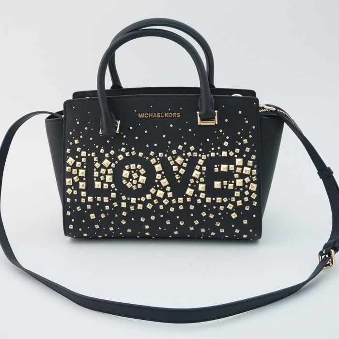 f1583bcb80fcf8 Jual TAS MICHAEL KORS ORIGINAL - MK SELMA MEDIUM BLACK LOVE mn ...
