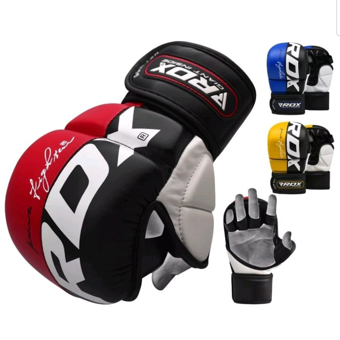 MMA UFC Sparring Grappling Boxing Gloves Fight Training Punch Mitts Leather