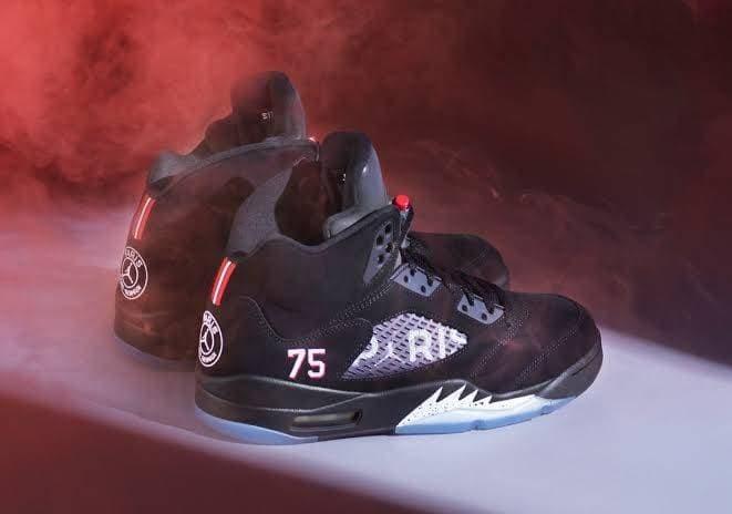 on sale 816e9 be823 Jual Sepatu Basket Jordan Retro 5 PSG Paris High - Kota Administrasi  Jakarta Selatan - ridoshop9 | Tokopedia