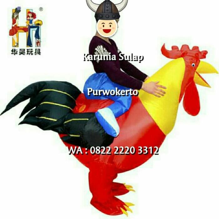 Kostum naik ayam merah cosplay badut ultah celana pria anak mainan toy
