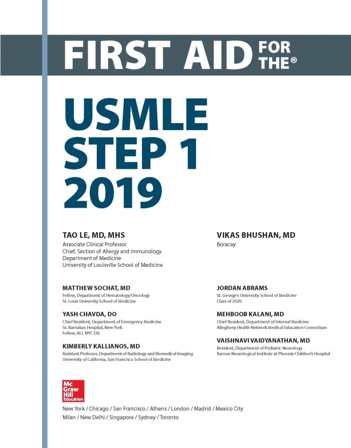 Jual NEW ! First Aid for the USMLE Step 1 2019 29th Edition 29 th ed -  bukudigital | Tokopedia