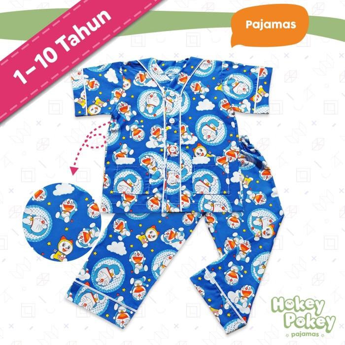 Setelan Baju Tidur Anak / Piyama Anak Motif Doraemon - SIze 4