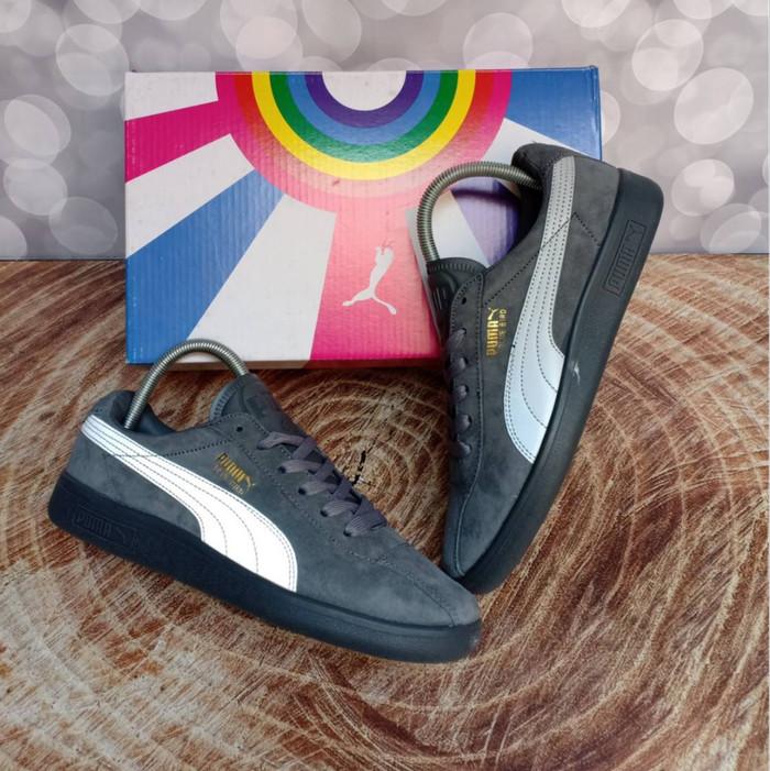 Sepatu Puma Suede Classic Blue Bird Wolf Grey