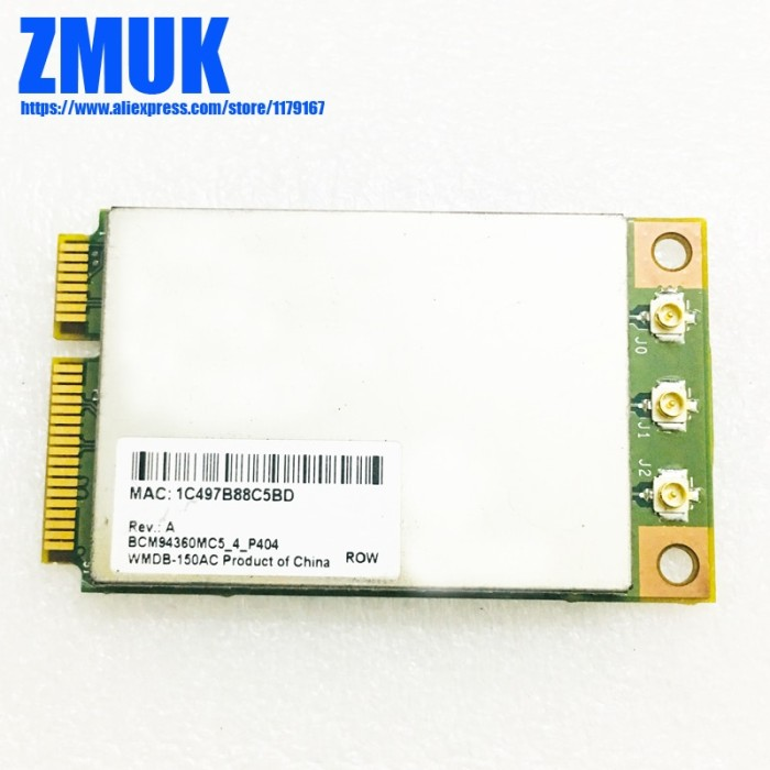 Jual BCM4360 BCM94360MC5 1300Mbps 802 11ac & 5GHz WiFi Card - DKI Jakarta -  barangdarichinacom   Tokopedia