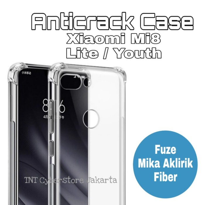 official photos d2e5d ea4ce Jual Anticrack Xiaomi Mi8 Lite Youth Fuze Mika Anti Crack Case Cover Mi 8 -  TNT Cyberstore | Tokopedia