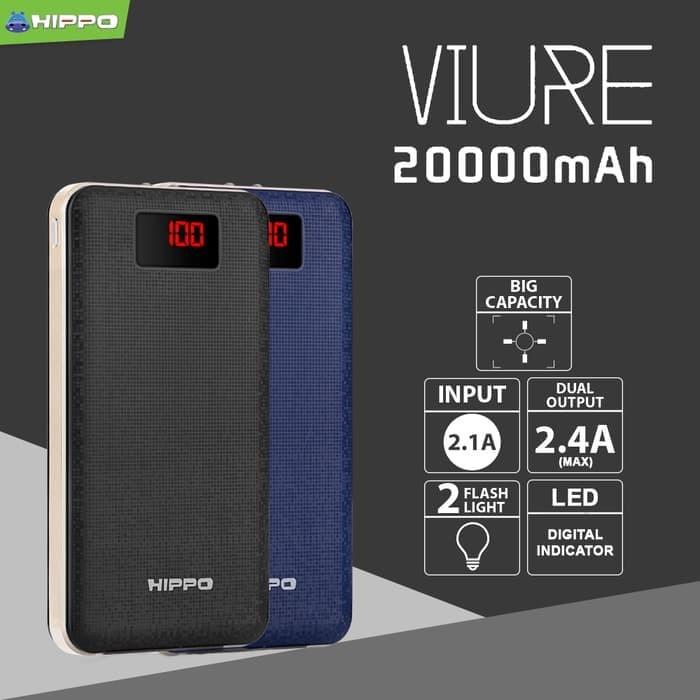 Hippo Viure 20000 Mah Simple Pack Powerbank - Biru