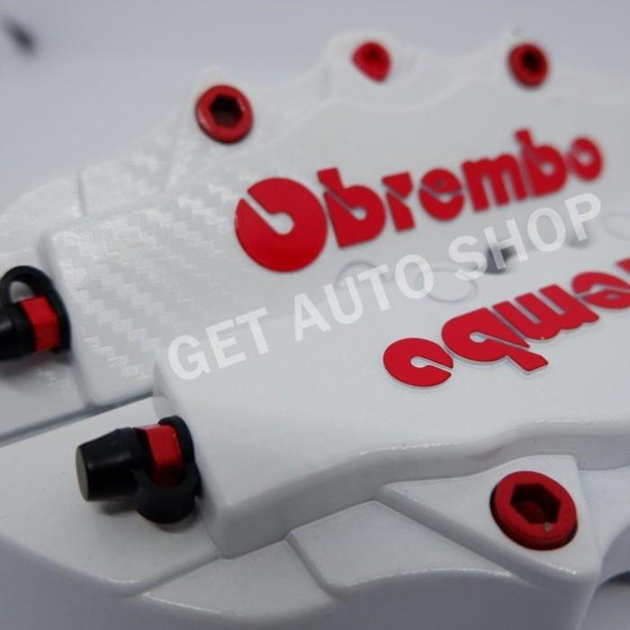Cover Rem putih Carbon Cover Rem Disc Brake Medium Brembo Karbon