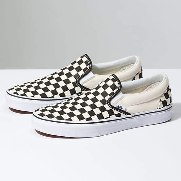 Sepatu Kets Vans OG Classics Slip On LX Checkerboard Catur Black White -  Putih e64ce53e74