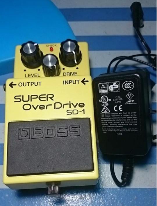 Efek Gitar Listrik Boss SD-1 + Adaptor (Nux)