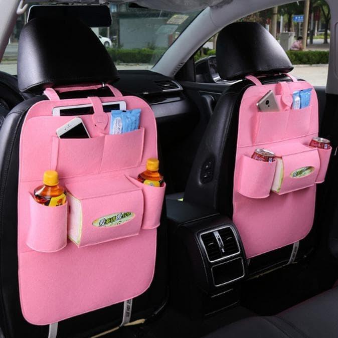 Promo Car Seat Organizer Tas Jok Belakang Kursi Mobil Multifungsi -