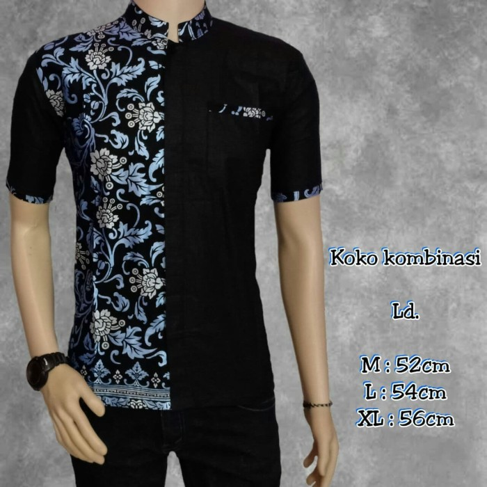 Jual Kemeja Batik Pria Modern Batik Kombinasi Kerah Koko Kota Pekalongan Batik Putra Absor Tokopedia