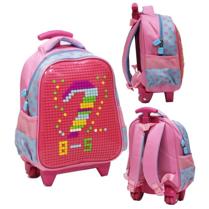 New Tas Trolley Anak TK - Lego Puzzle Kreatif Anak Dua Kantung Import