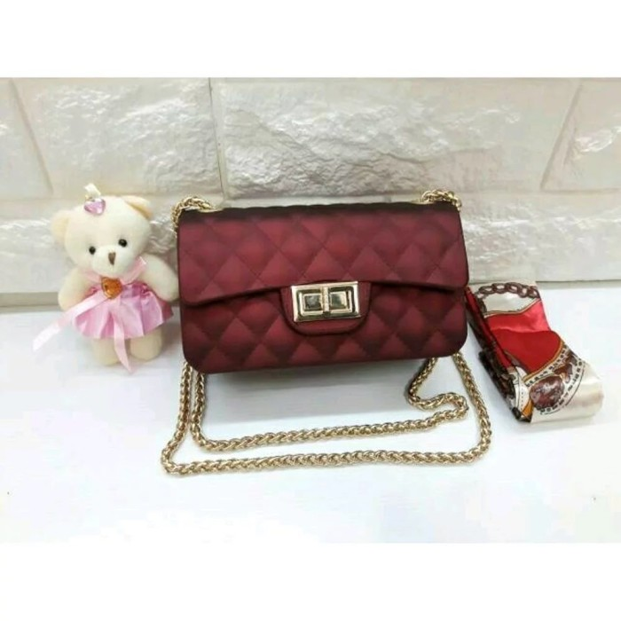 Tas Fashion Wanita Bahan Jelly Pink - Daftar Harga Terbaru dan ... 272c14292c