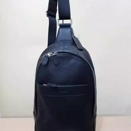 Tas Selempang Cowok Coach Original Men Man Sling Bag Pack Polgan Black 0f1198803a