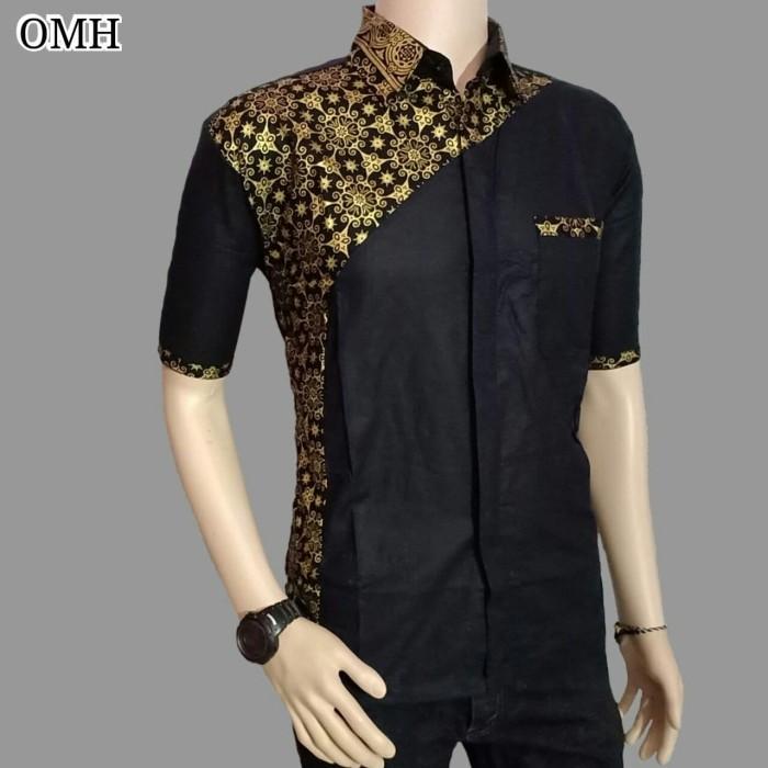 Jual Kemeja Batik Pria Modern Batik Kombinasi Kota Pekalongan Batik Kwaly Cokro Tokopedia