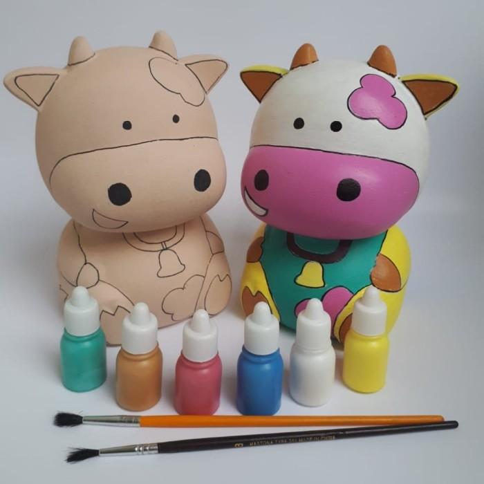 Jual Mewarnai Celengan Sapi Keramik Creaplay Shop Tokopedia