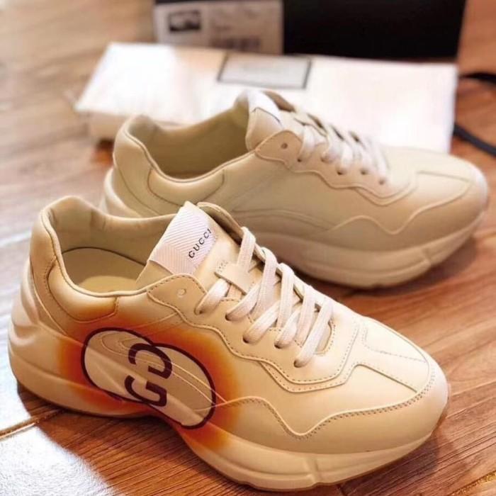 Jual jual sepatu kulit wanita cewek gucci sneaker casual kw vip ... c691cb59a2