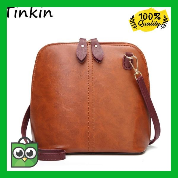 68bfcb93e8d1 Jual Original Tinkin Women Vintage PU Daily Shoulder Bag Female ...