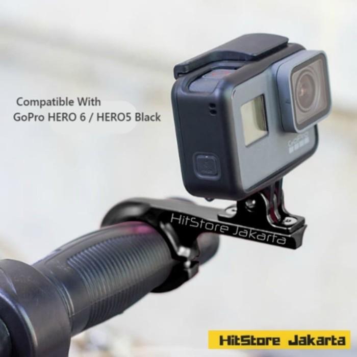 Foto Produk CNC Aluminium Bike Handlebar Mount Aksesoris Sepeda Action Camera dari Warung_Kampung