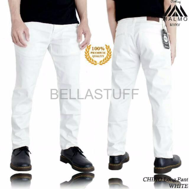 Jual Celana Training Legging Pria Murah Celana Chino Malmo Impresif Putih Jakarta Barat Bella Stuff Tokopedia