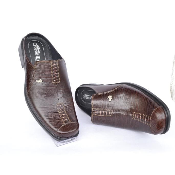 Jual Sepatu Sandal Selop Kulit Asli Pria Crocodile A8 Hitam Coklat ... d267f9d53c