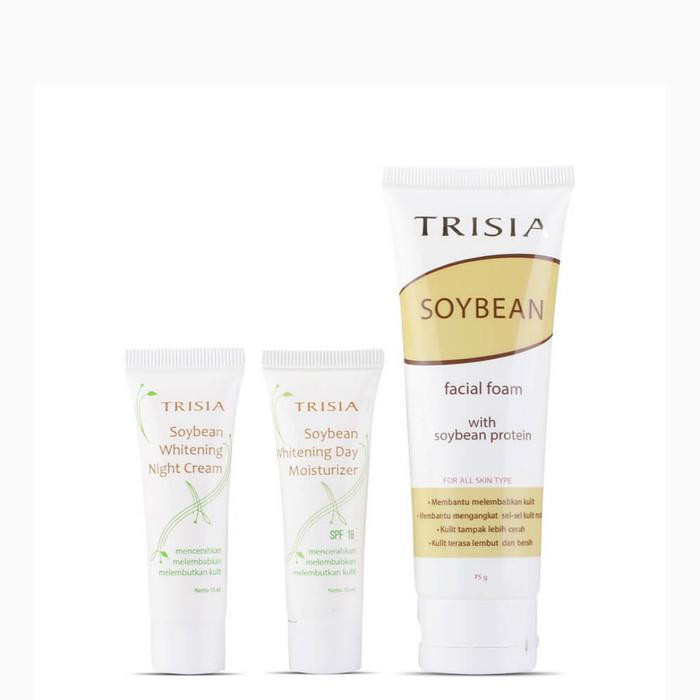 TRS 001 - Paket Facial Foam Soybean, Soybean Whitening Day Moisturizer
