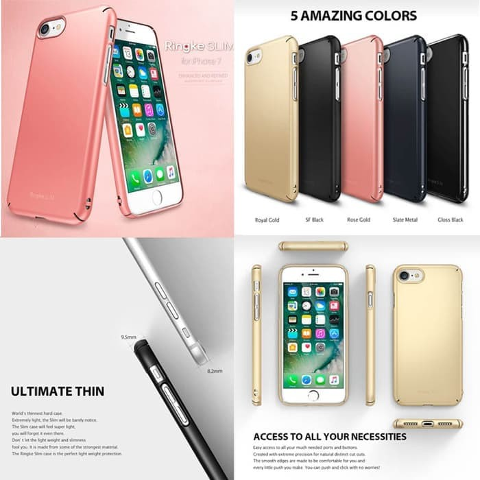 ... Bagus Rearth Ringke Slim Hard Case Apple iPhone 7 Original