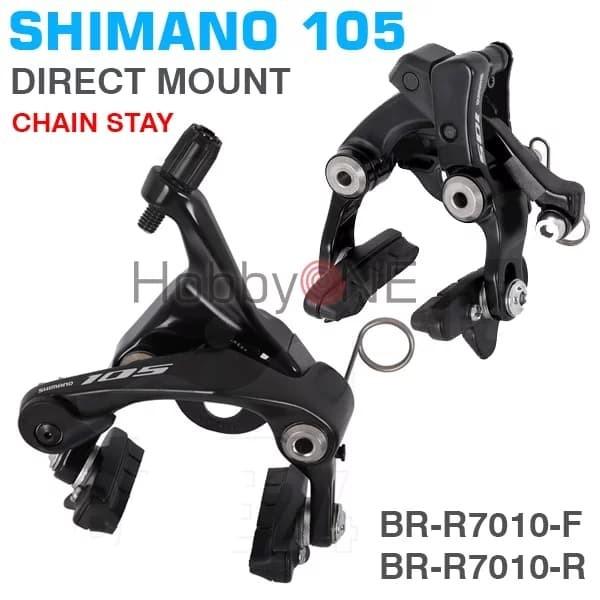 Black Shimano 105 BR-R7010R Rear Chainstay Direct Mount Road Caliper