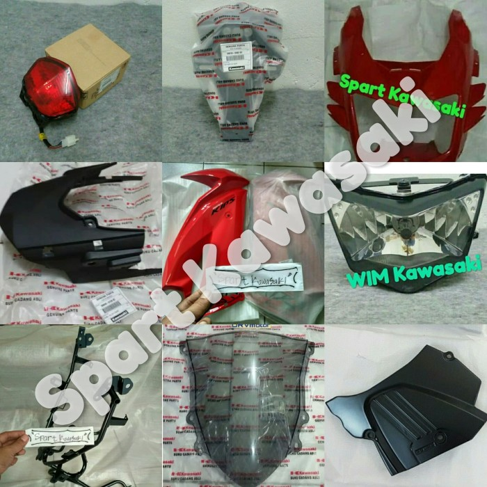 harga Cover body breket fairing lampu depan upgrad ninja rr new 150 original Tokopedia.com