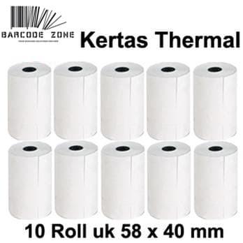harga Kertas struk thermal paper / pos mobile printer - edc vsc 58x40mm -13 Tokopedia.com