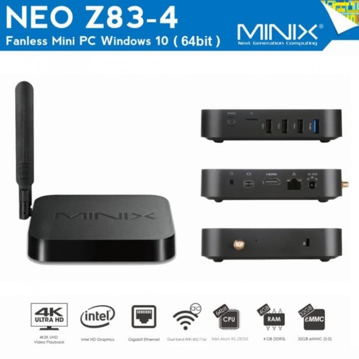 harga Minix neo z83-4 ram 4gb rom 32gb - mini pc windows 10 home 64 -olb3393 Tokopedia.com