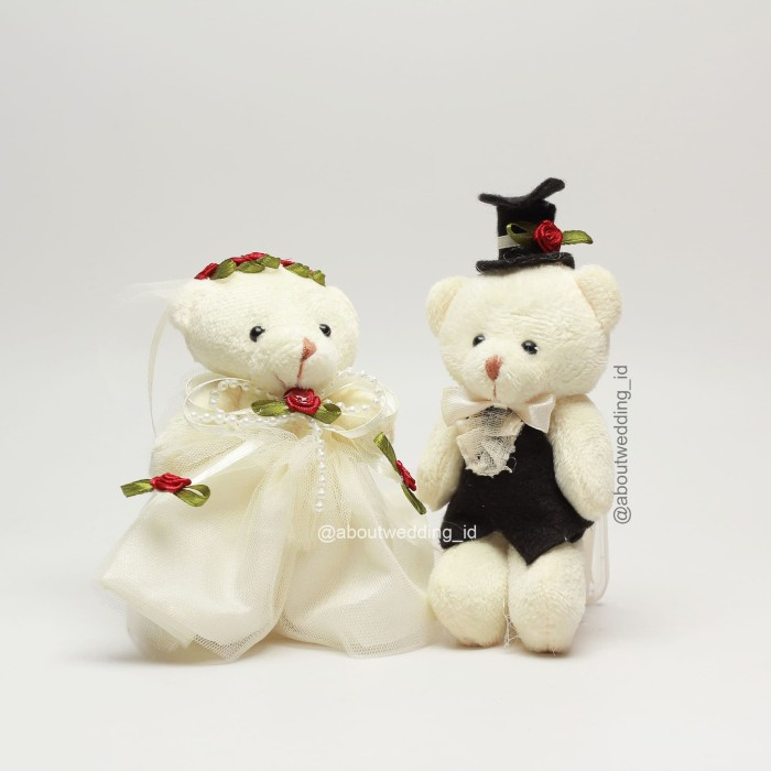 Jual Boneka Putih White Beruang Mini Pengantin Bear Wedding Doll ... 79e806b5c5