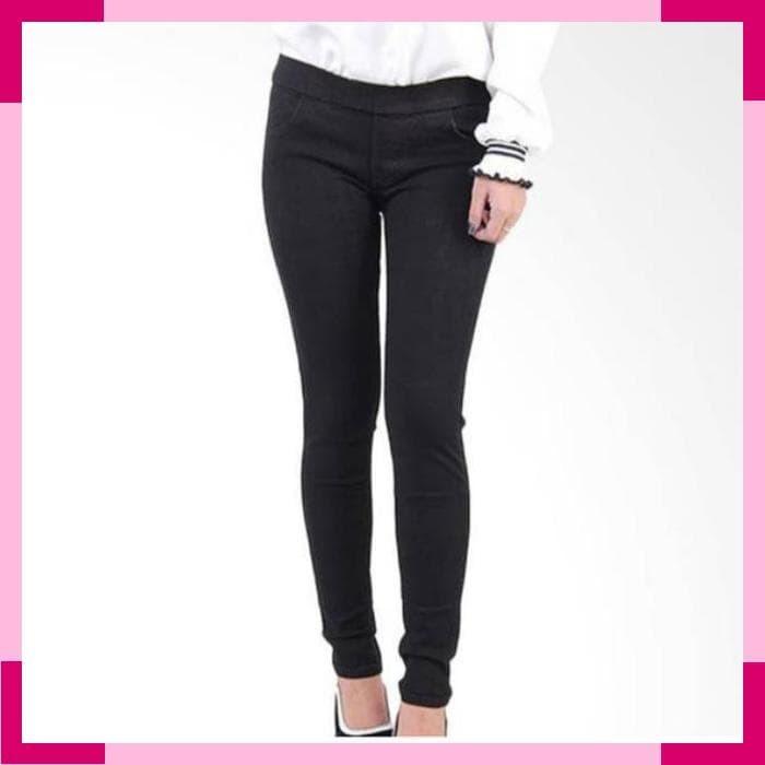 Celana Jeans pinggang karet   legging jeans /celana jeans karet wanita