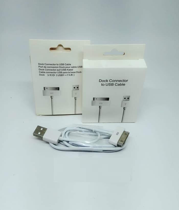 Kabel Data USB iPhone 3G, 3GS, 4, 4S, iPad dan iPod - Putih
