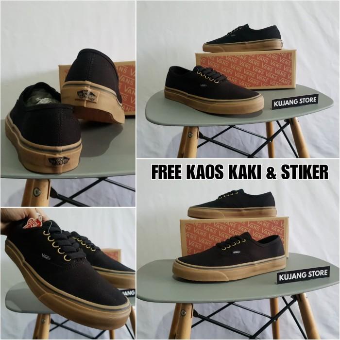 Jual Sepatu Vans Authentic Black Gum Original Waffle DT - Kujang ... 1ee2a3cd43