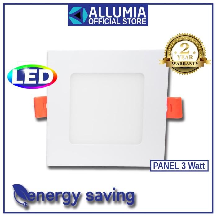 Allumia Panel Light 3 Watt Square 3000k Kuning