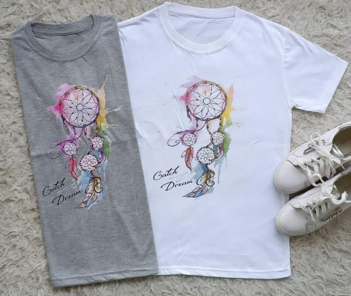 Kaos TShirt Tumblr Tee Cewek Wanita Branded Dream Catcher Import Murah -  Putih 9fbbea9215
