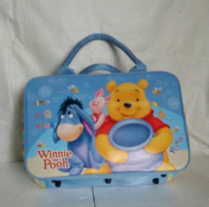 Termurah Tas travel koper /travel bag kanvas winnie the pooh sat