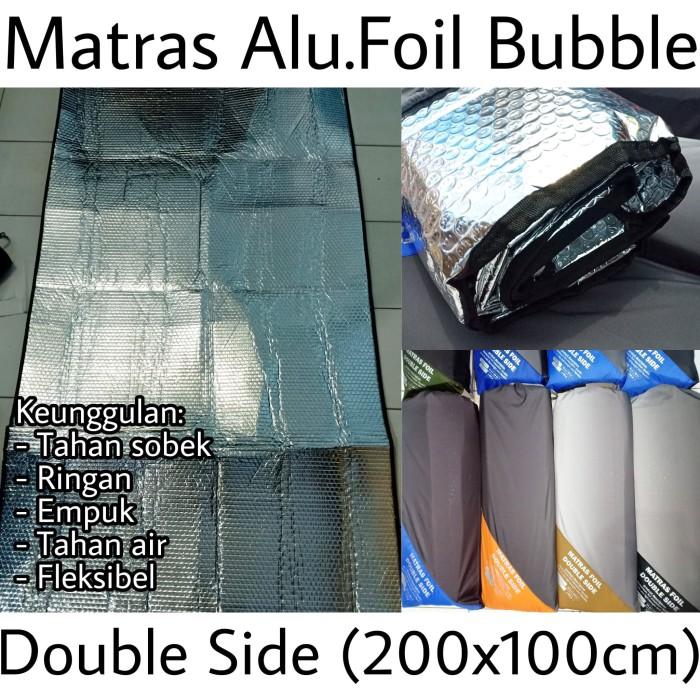 MATRAS ALUMUNIUM FOIL BUBBLE 2X1 M - Matras Camping Gunung Tahan Sobek