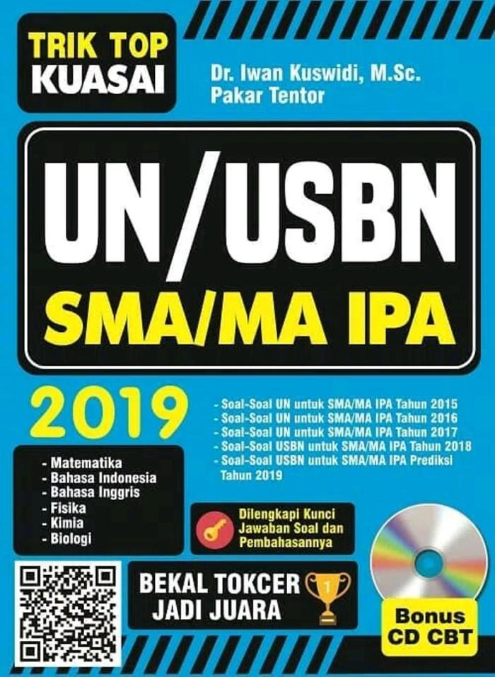 BUKU TRIK TOP KUASAI UN USBN SMA MA IPA 2019 PLUS CD aneka hobi